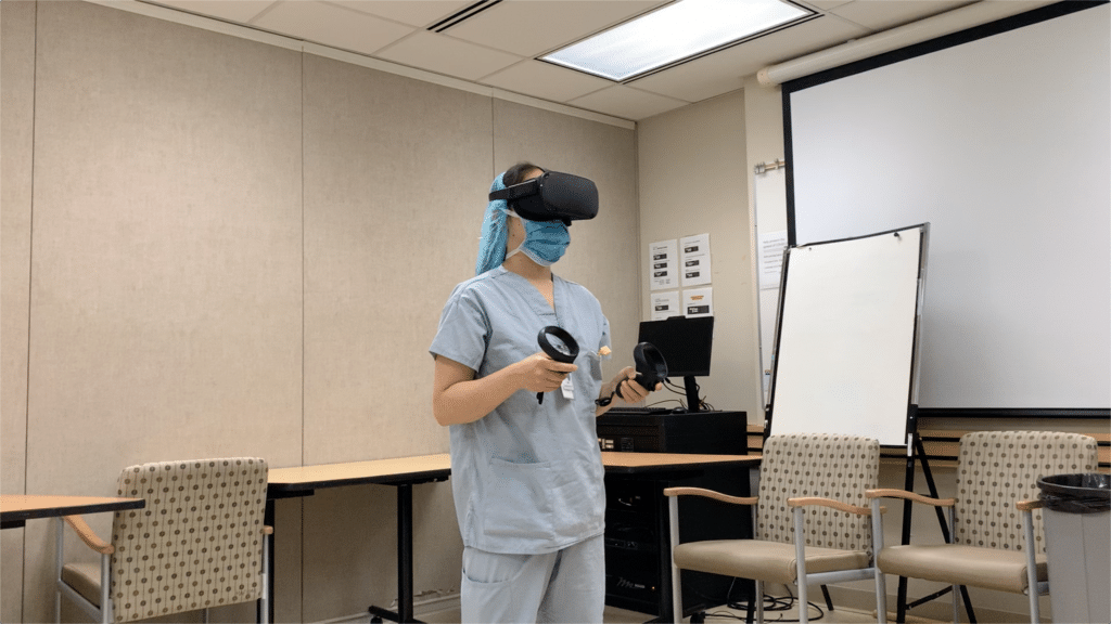 VR training space