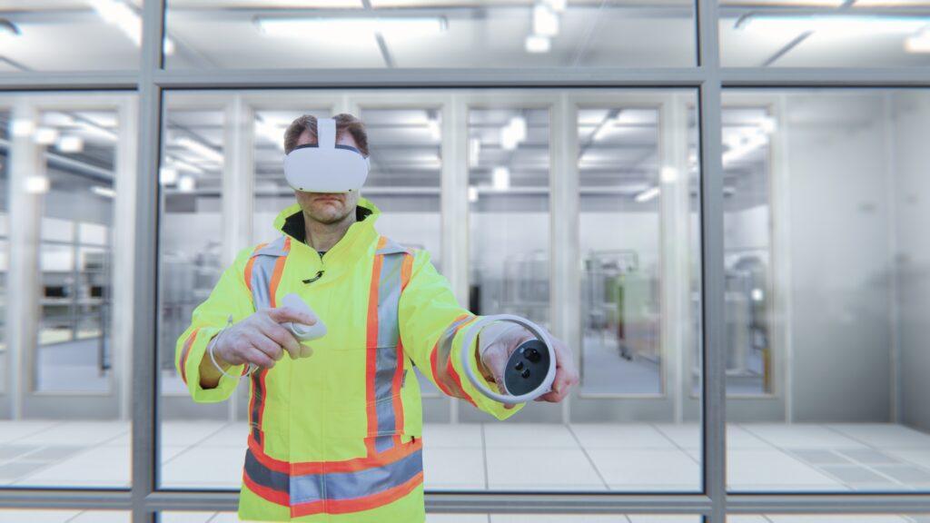 Job skill training in VR