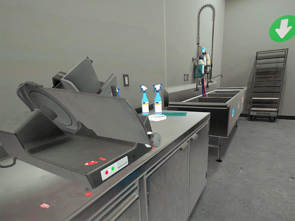 vr job skill training for deli slicer maintenance