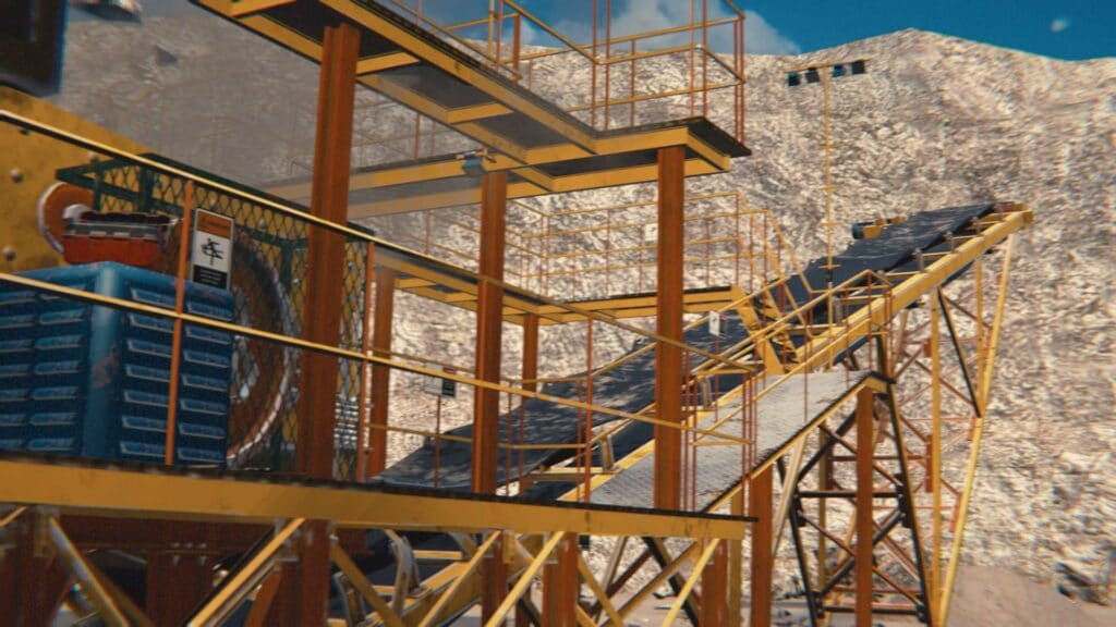 VR training for mining safety.