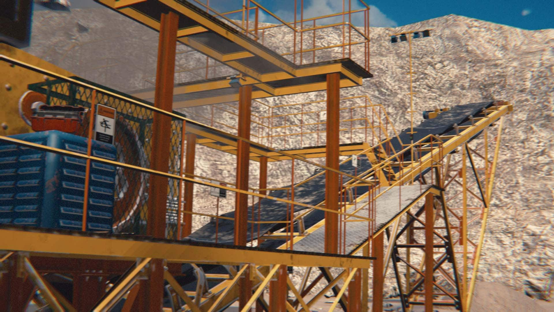 Procedural training environment for mining safety