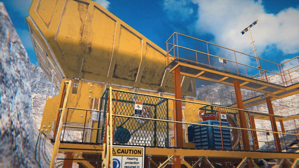 VR environment for mining safety training