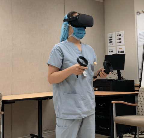 Bring you VR training scenario to life: user testing