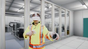 VR training in a VR headset