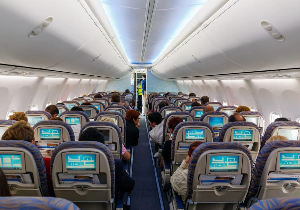 Airline industry training in VR with cabin crew training.