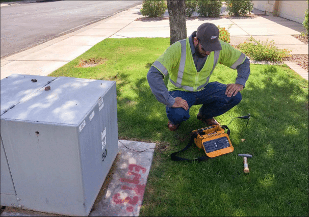 Utility training with SRP where an individual is working with utility equipment.